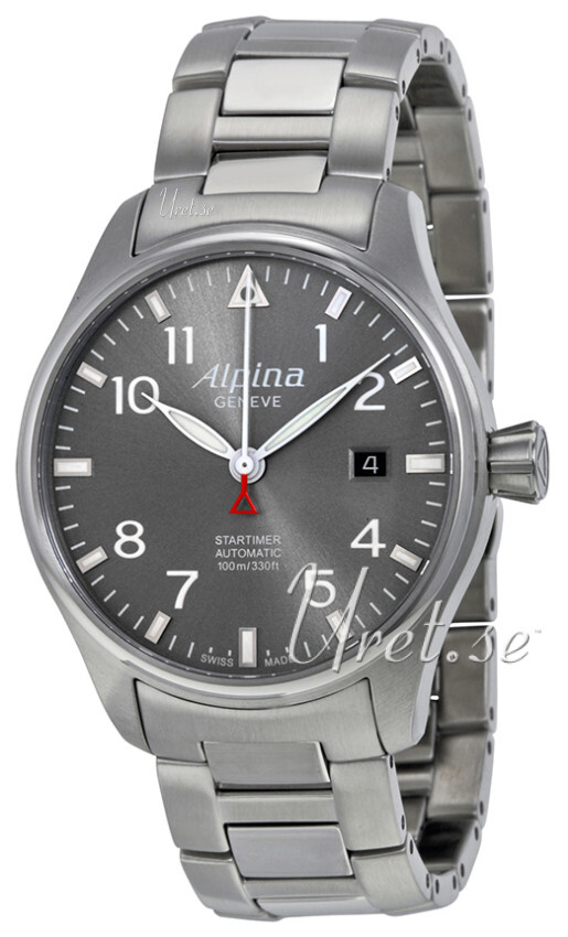 Alpina Startimer Herreklokke AL-525G3S6B Grå/Stål Ø40 mm - Alpina
