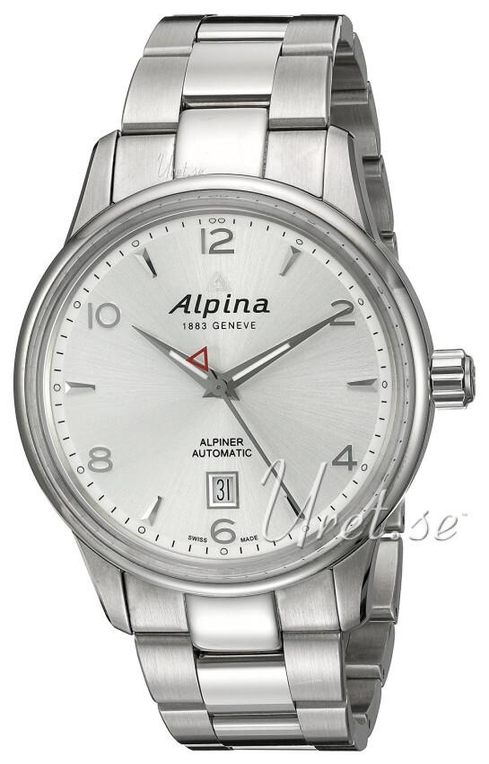 Alpina Alpiner Herreklokke AL-525S4E6B Sølvfarget/Stål Ø41.5 mm - Alpina