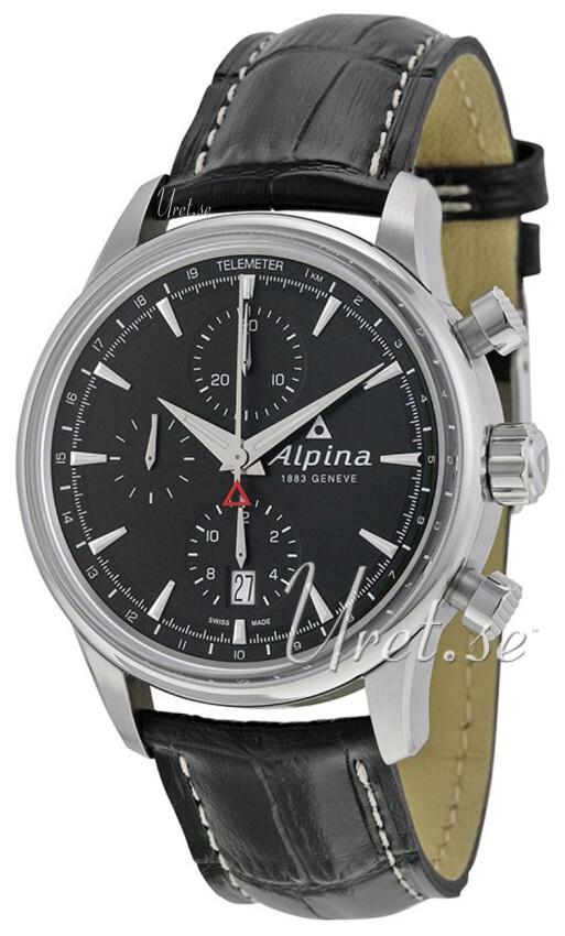 Alpina Alpiner Herreklokke AL-750B4E6 Sort/Lær Ø41.5 mm - Alpina
