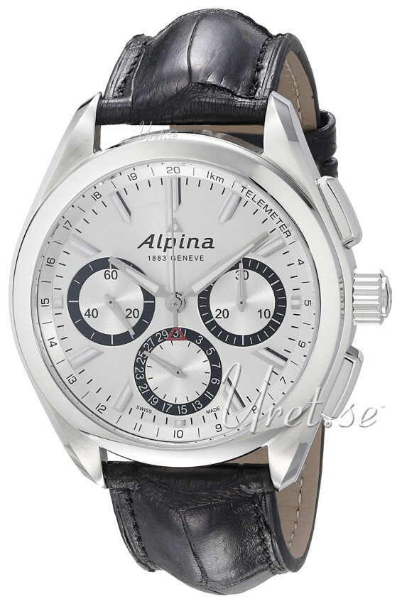 Alpina Alpiner Herreklokke AL-760SB5AQ6 Sølvfarget/Lær Ø45 mm - Alpina