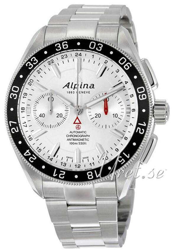 Alpina Alpiner Herreklokke AL-860S5AQ6B Sølvfarget/Stål Ø44 mm - Alpina