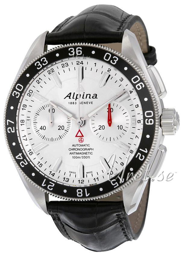 Alpina Alpiner Herreklokke AL-860S5AQ6 Sølvfarget/Lær Ø44 mm - Alpina