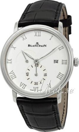 Blancpain Villeret Herreklokke 6606A-1127-55B Hvit/Lær Ø40 mm - Blancpain