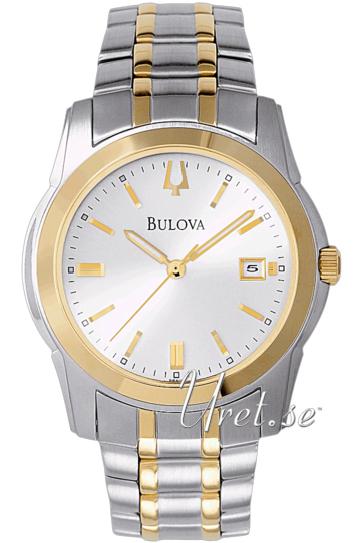 Bulova Dress Herreklokke 98H18 Sølvfarget/Gulltonet stål Ø40 mm - Bulova