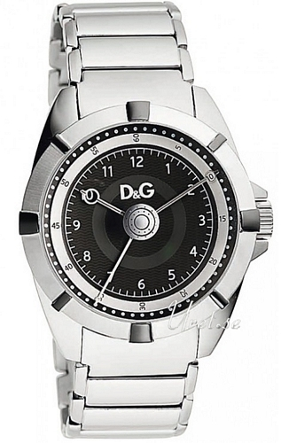 Dolce & Gabbana D&G Dance Herreklokke DW0608 Sort/Stål Ø44 - Dolce & Gabbana D&G