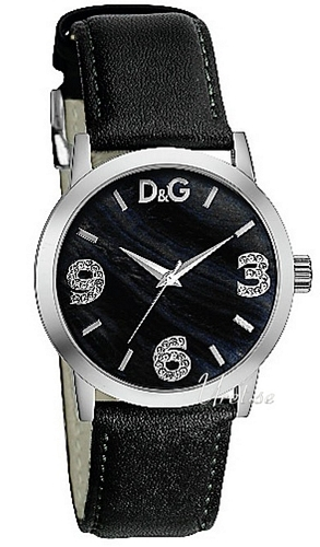Dolce & Gabbana D&G Dameklokke DW0689 Hvit/Lær Ø40 mm - Dolce & Gabbana D&G