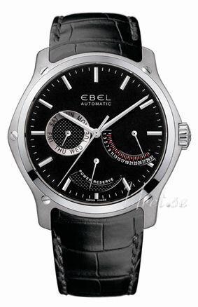 Ebel Classic Herreklokke 1215865 Sort/Lær Ø45 mm - Ebel