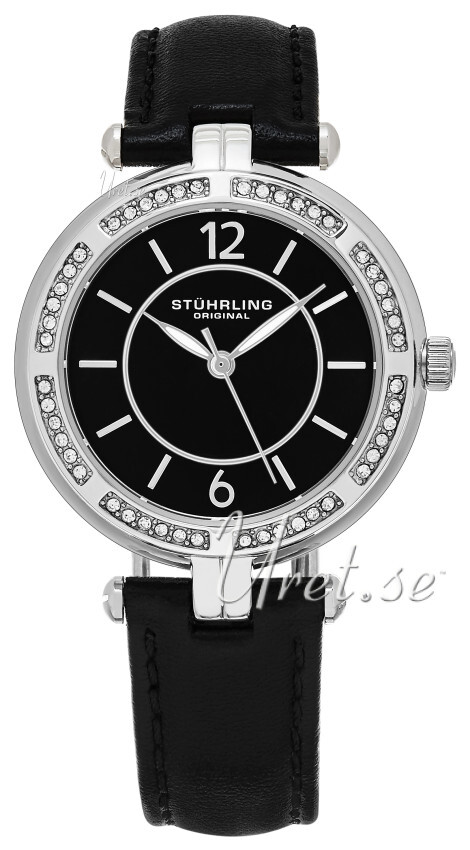 Stührling Original Vogue Serena Dameklokke 550.02 Sort/Lær Ø33 mm - Stührling Original