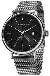 Akribos XXIV Essential Sort/Stål Ø46 mm AK731SSB