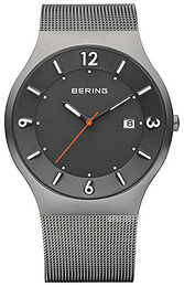 Bering Solar Sort/Stål Ø40 mm 14440-077