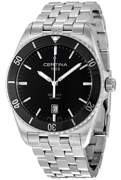 Certina DS First Sort/Stål Ø41 mm C014.410.11.051.00