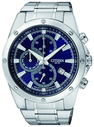 Citizen Chrono Blå/Stål Ø44 mm AN3530-52L