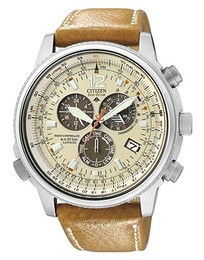 Citizen Radio Controlled Promaster Sky Beige/Lær Ø44 mm AS4020-44B