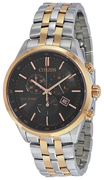 Citizen Chrono Sort/Rose-gulltonet stål Ø42 mm AT2146-59E