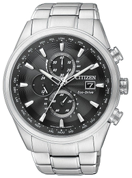 Citizen Radio Controlled Sort/Stål Ø43 mm AT8011-55E