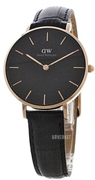 Daniel Wellington Classic Petite Reading Sort/Lær Ø32 mm DW00100167