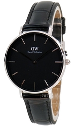 Daniel Wellington Classic Petite Reading Sort/Lær Ø32 mm DW00100179