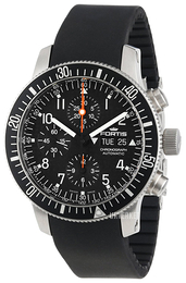 Fortis B-42 Official Cosmonauts Sort/Gummi Ø42 mm 638.10.11.K