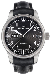 Fortis F-43 Sort/Lær Ø43 mm 700.10.81.L01