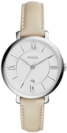 Fossil Dress Hvit/Lær Ø37 mm ES3793