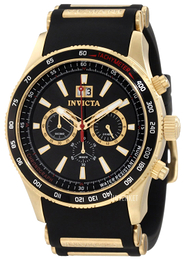 Invicta Aviator Sort/Gulltonet stål Ø48 mm 1236