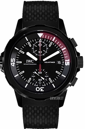 IWC Aquatimer Sort/Gummi Ø44 mm IW379505