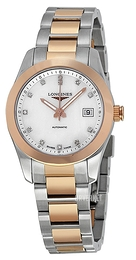 Longines Conquest Ladies Hvit/18 karat rosé gull Ø29.5 mm L2.285.5.87.7