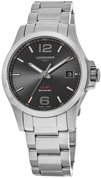 Longines Conquest Sort/Stål Ø41 mm L3.716.4.56.6
