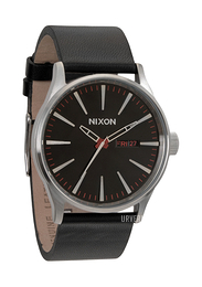 Nixon The Sentry Leather Sort/Lær Ø42 mm A105000-00