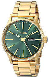 Nixon The Sentry Grønn/Gulltonet stål Ø42 mm A3561919-00