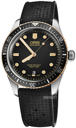 Oris Diving Sort/Gummi Ø40 mm 01 733 7707 4354-07 4 20 18
