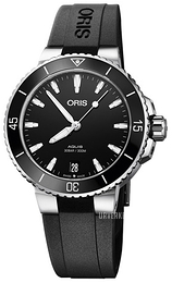 Oris Diving Sort/Gummi Ø36.5 mm 01 733 7731 4154-07 4 18 64FC