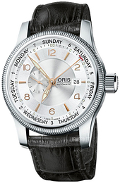 Oris Aviation Sølvfarget/Lær Ø44 mm 01 745 7629 4061-07 5 22 76FC