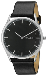 Skagen Holst Sort/Lær Ø40 mm SKW6220