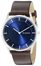 Skagen Holst Blå/Lær Ø40 mm SKW6237