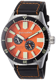 Spinnaker Orange/Lær Ø43 mm SP-5032-02