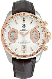 TAG Heuer Grand Carrera Calibre 17 Automatic Chronograph Sølvfarget/Lær Ø43 mm CAV515B.FC6231