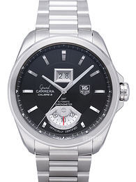 TAG Heuer Grand Carrera Calibre 8RS Grande Date And GMT Sort/Stål Ø42.5 mm WAV5111.BA0901