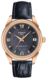 Tissot Vintage Powermatic 80 Lady Sort/Lær Ø33 mm T920.207.76.128.00