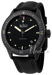 Blancpain Fifty Fathoms Sort/Lær Ø43.6 mm 5000-0130-B52A