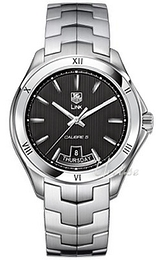 TAG Heuer Link Calibre 5 Day-Date Automatic Sort/Stål Ø42 mm WAT2012.BA0951