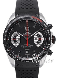 TAG Heuer Grand Carrera Sort/Gummi Ø43 mm CAV511C.FT6016