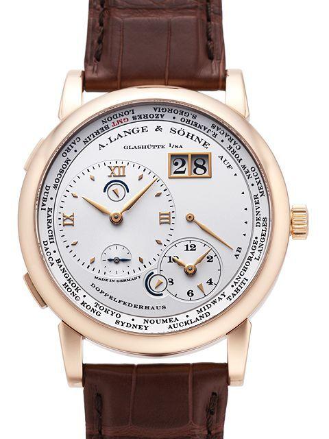 A. Lange & Söhne Lange 1 GMT Herreklokke 116.032 Hvit/Lær - A. Lange & Söhne