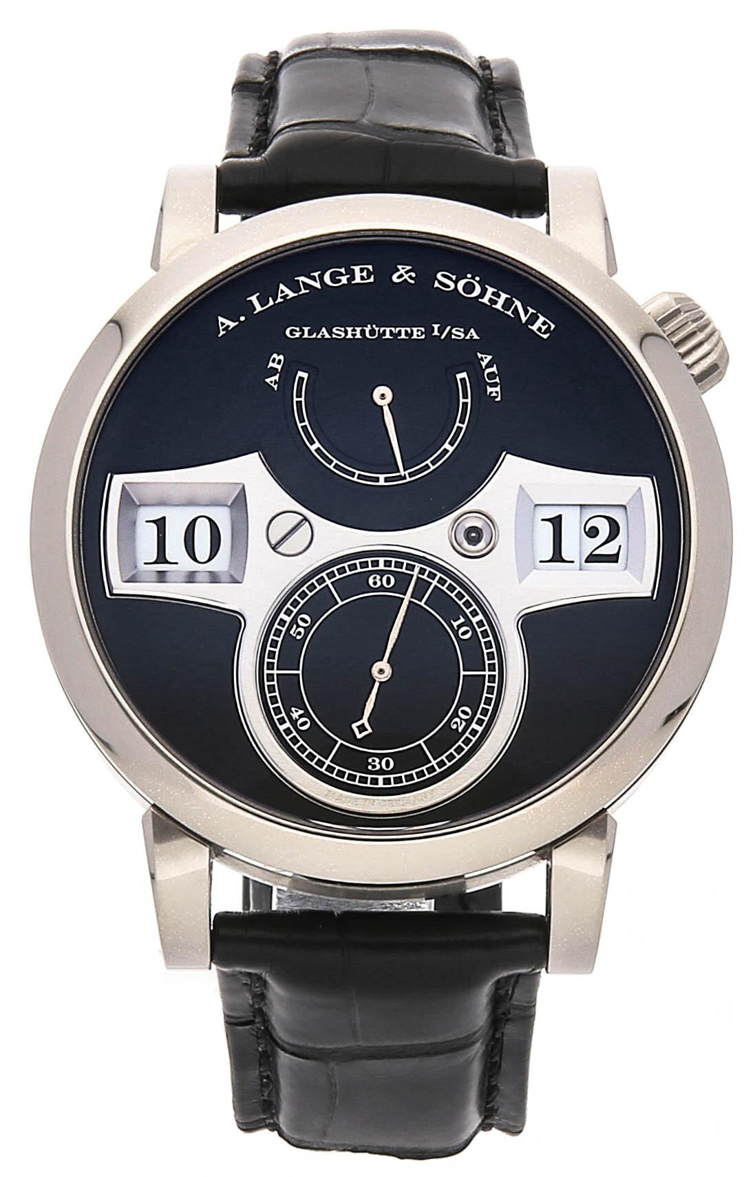 A. Lange & Söhne Saxonia Herreklokke 140.029 Sort/Lær Ø41.9 mm - A. Lange & Söhne