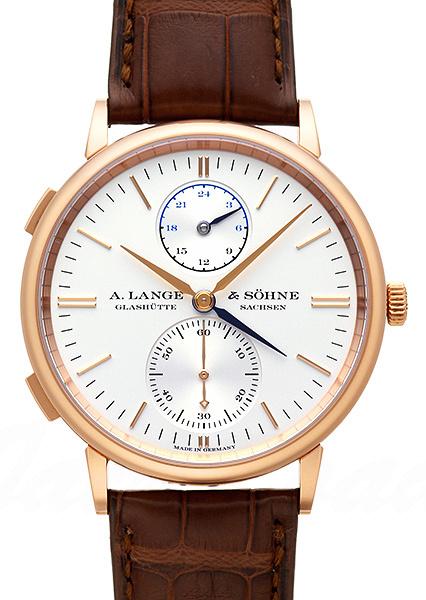 A. Lange & Söhne Saxonia Herreklokke 386.032 Sølvfarget/Lær - A. Lange & Söhne