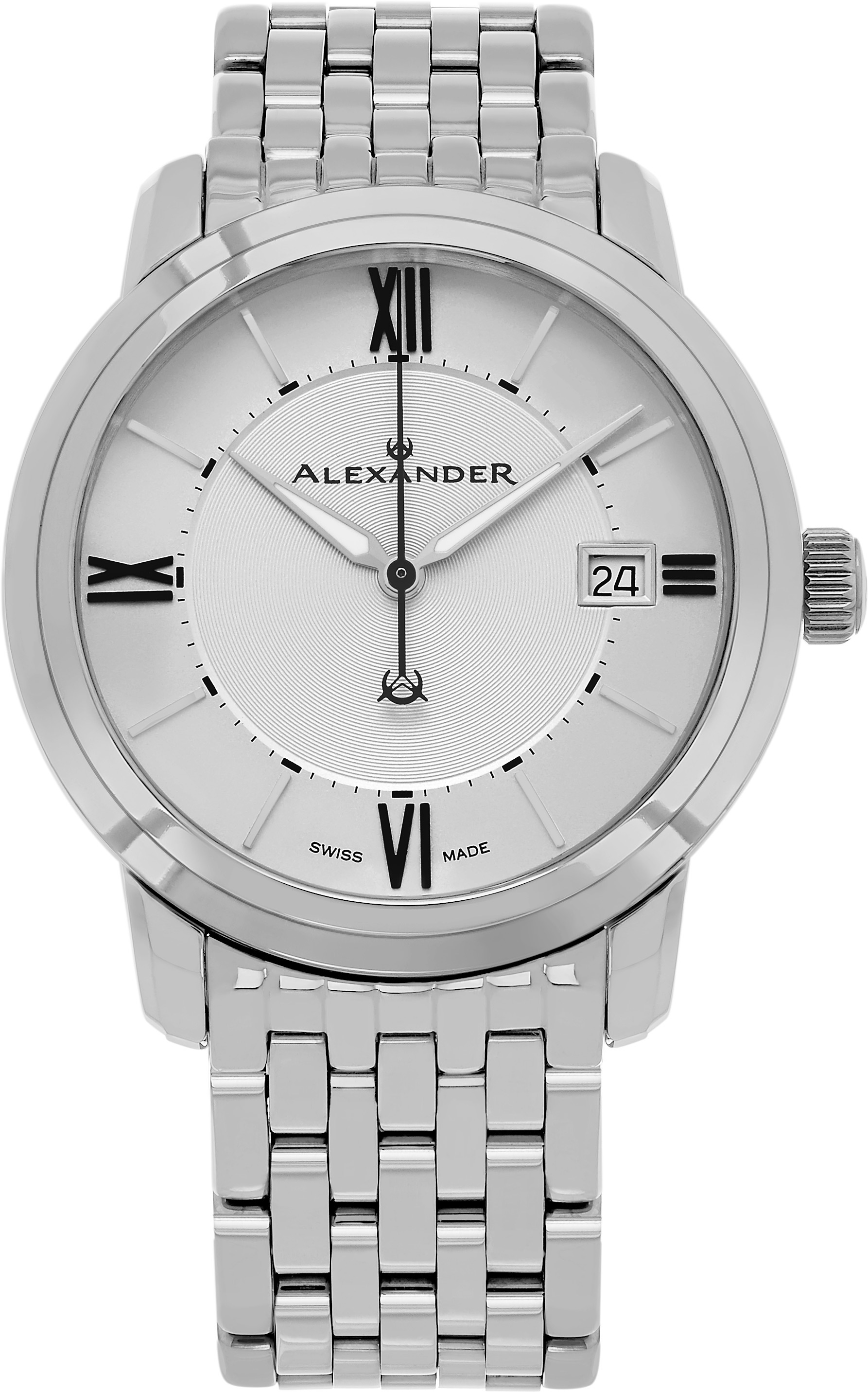 Bilde av Alexander Heroic Herreklokke A111b-04 Sølvfarget/stål Ø40 Mm