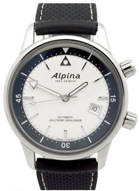 Alpina Seastrong Herreklokke AL-525S4H6 Sølvfarget/Gummi Ø42 mm - Alpina