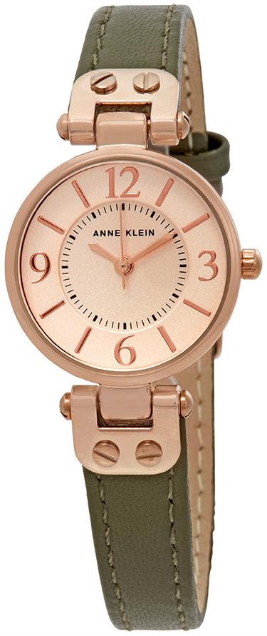 Anne Klein Leather Dameklokke 10/9442RGOL Rosegullfarget/Lær Ø26 mm - Anne Klein