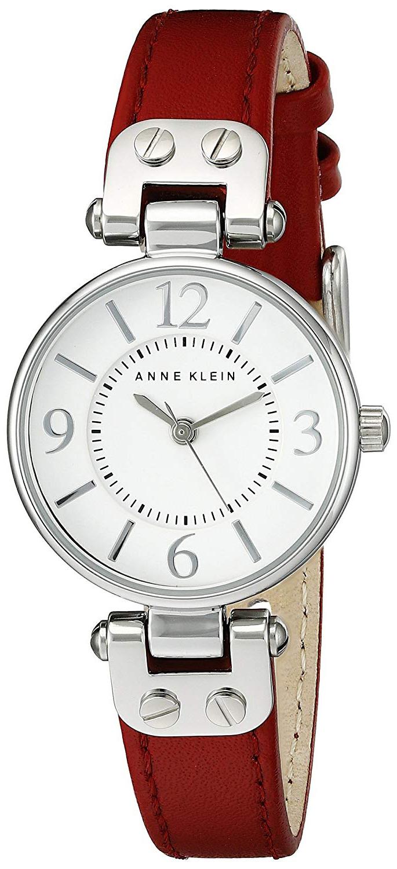 Anne Klein Leather Dameklokke 10/9443WTRD Hvit/Lær Ø26 mm - Anne Klein