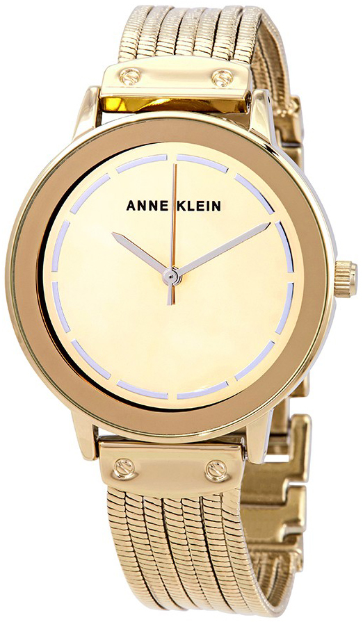 Anne Klein Bracelet Dameklokke AK/3222GMGB Gulltonet/Gulltonet stål - Anne Klein